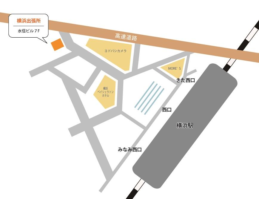 谷島行政書士事務所 横浜出張所 マップイラスト
